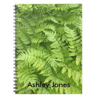 Natural Green Fern in Rainforest Notebook
