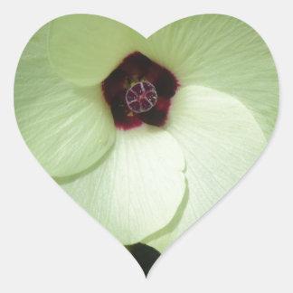Natural Green Flower Heart Sticker