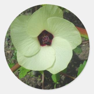 Natural Green Flower Round Sticker