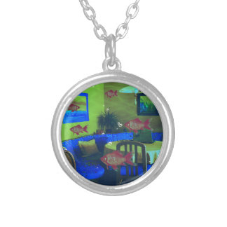 Natural habitat silver plated necklace