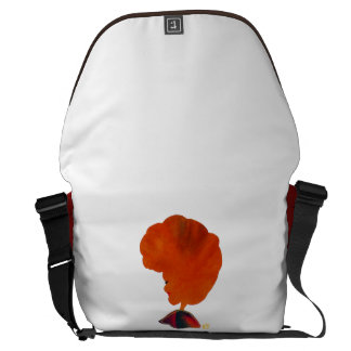 Natural hair Afro hair Rickshaw Messenger Bag
