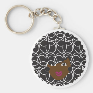 Natural Hair Curly Glam Keychain