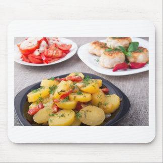 Natural homemade food closeup mouse pad
