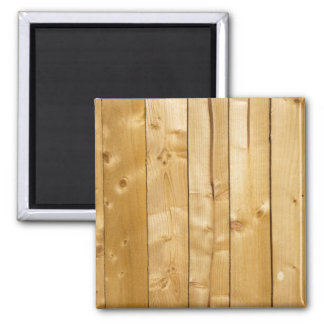 Natural knotted light wood panel photo magnet