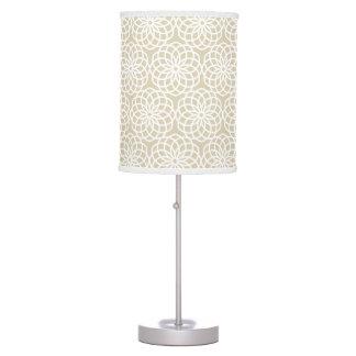 Natural Lattice Flower Geometric Pattern Desk Lamps
