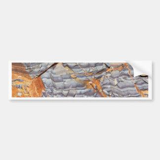 Natural layers of agate in a sandstone bumper sticker