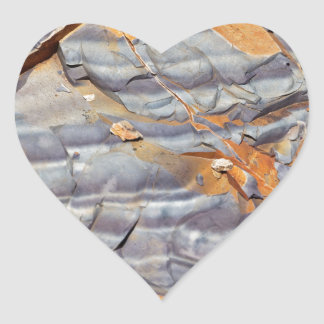 Natural layers of agate in a sandstone heart sticker
