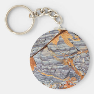 Natural layers of agate in a sandstone keychain
