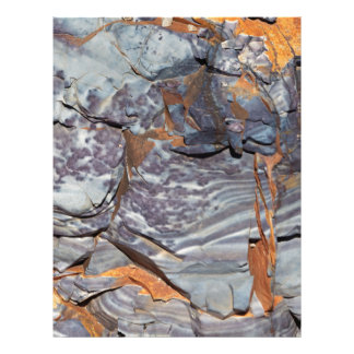 Natural layers of agate in a sandstone letterhead