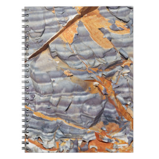 Natural layers of agate in a sandstone notebook