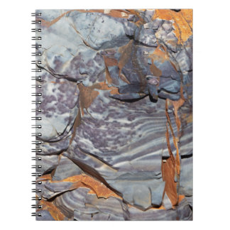 Natural layers of agate in a sandstone notebooks