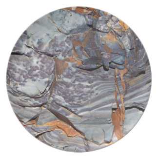 Natural layers of agate in a sandstone plate