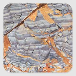 Natural layers of agate in a sandstone square sticker