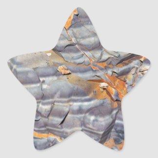 Natural layers of agate in a sandstone star sticker