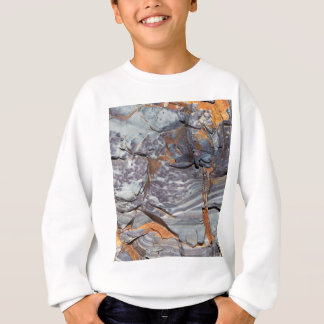 Natural layers of agate in a sandstone sweatshirt