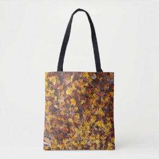 Natural leaf litter tote bag