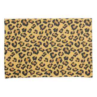 Natural Leopard Print Fake Fur Pattern Pillowcase