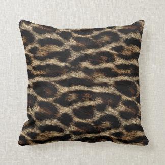 Natural Leopard Texture Print Pillow
