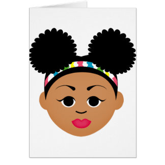 Natural Me Collection (Afro Puff Girl) Card