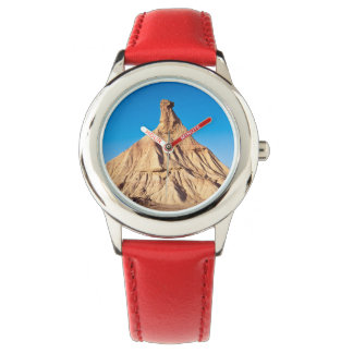 Natural monument with blue sky bottom wristwatches
