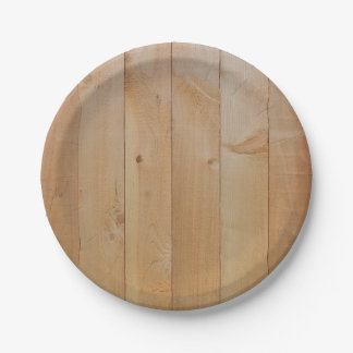 Natural New Fence Texture Paper Plate