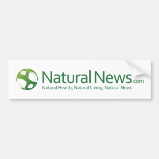 Natural News Logo Bumpersticker Bumper Sticker