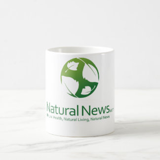 Natural News Logo Coffee Cup (Green)
