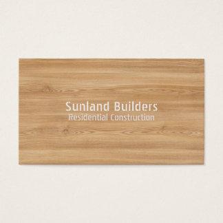 Natural Oak Wood Business Card