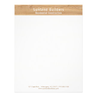 Natural Oak Wood Letterhead