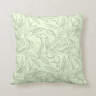 Natural Olive Decorative Throw Pillow Mint Green