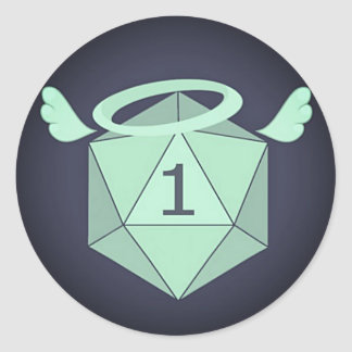 Natural One D20 Stickers