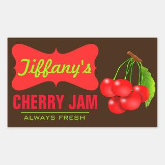 Natural Organic | Cherry Jam | Handmade Jams Sticker