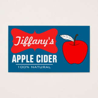 Natural Organic | Handmade Apple Cider Business Card