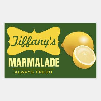 Natural Organic | Lemon Jam | Lemon Marmalade Sticker