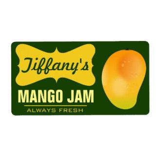 Natural Organic Mango Jam Shipping Label