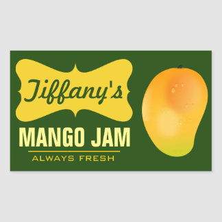 Natural Organic Mango Jam Sticker