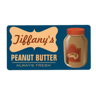 Natural | Organic Peanut Butter | Handmade Butter Shipping Label