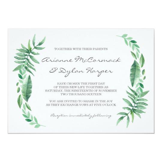 Natural Palm Wedding Invitation