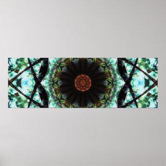 Natural Panoramic Mandala Poster