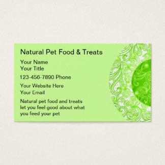 Natural Pet Food Business Cards