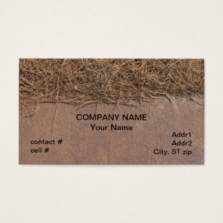 Natural pinestraw mulch business card