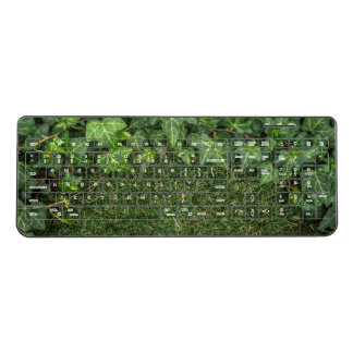 Natural Plant Vines and Green Grass Stress Free Wireless Keyboard