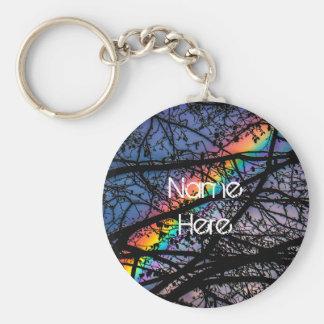 Natural Rainbow Keychain