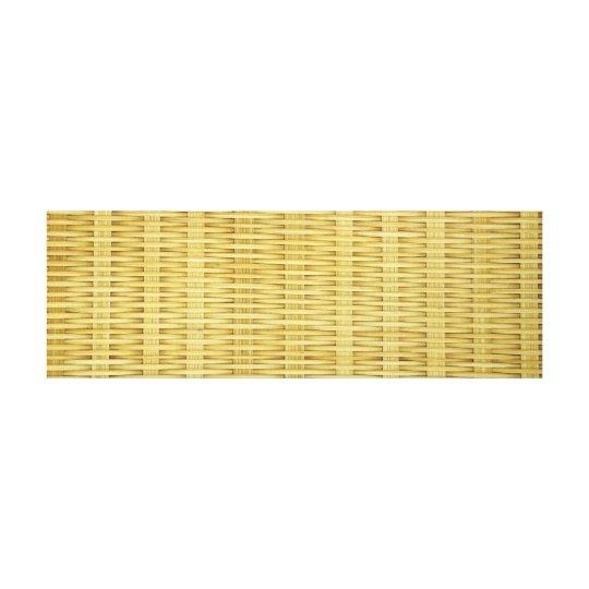 Natural Rattan Basket Weave Canvas Print