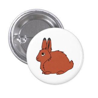 Natural Red Arctic Hare 1 Inch Round Button