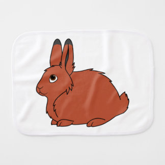 Natural Red Arctic Hare Baby Burp Cloth