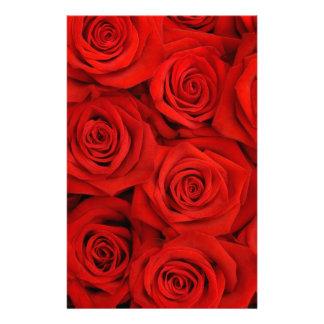 Natural red roses background stationery design