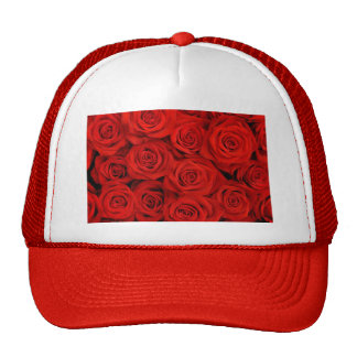 Natural red roses background trucker hat