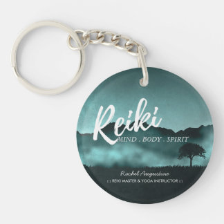Natural Reiki Master and Yoga Mediation instructor Double-Sided Round Acrylic Keychain