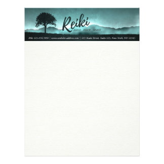 Natural Reiki Master and Yoga Mediation instructor Letterhead